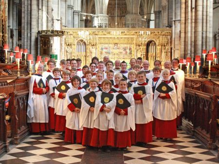 Newport Cathedral Choir with Choir Folders