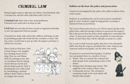 British Values Key Stage 2 It's The Law! Criminal Law spread