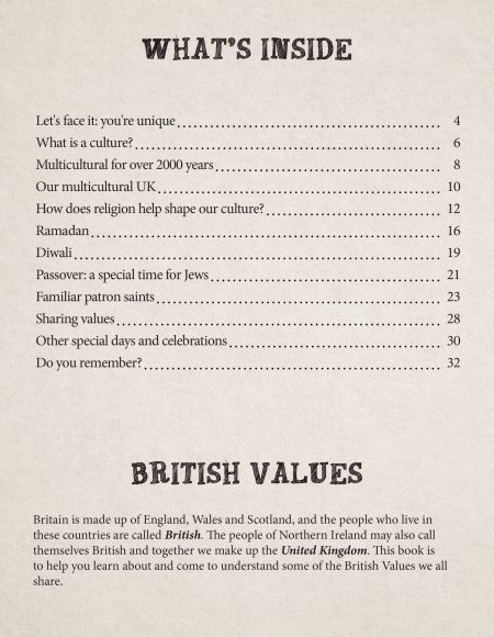 British Values KS2 Our Country, Our World contents