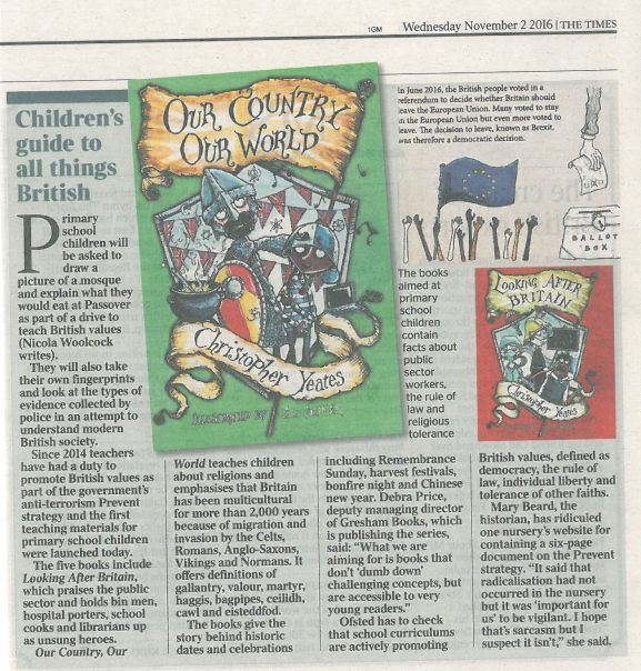 British Values books as featured in The Times November 2016