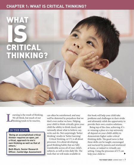 Aiming High What is critical thinking?
