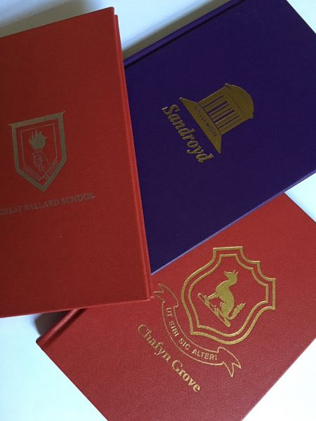 The Junior Hymn Book personalised for each school