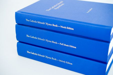 The Catholic Schools' Hymn Book spines - Words, Melody and Full Music
