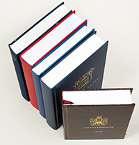 A row of bespoke hymn books
