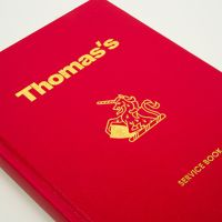 Thomas's London bespoke service book