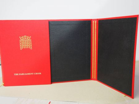 The Parliament Choir Folder inside showing cords