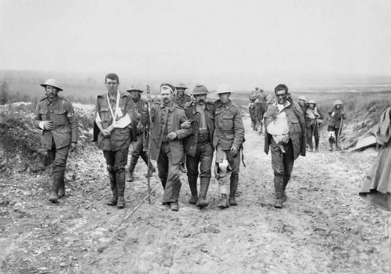 Walking with the wounded soldiers