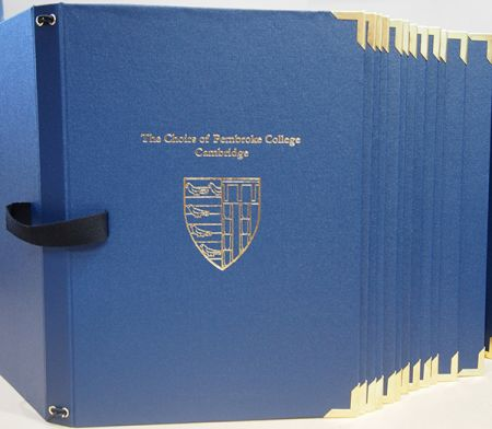 Pembroke Collage, Cambridge, Choir Folder
