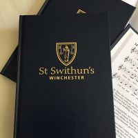 St Swithun's hymn book cover and pages