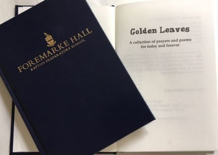 Foremarke Hall Golden Leaves book cover and title page