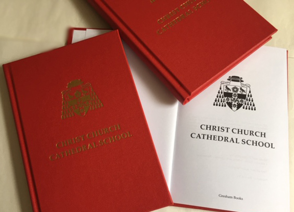 Christ Church Cathedral School hymn book with title page