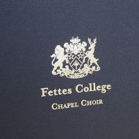 Fettes College Chapel Choir embossing