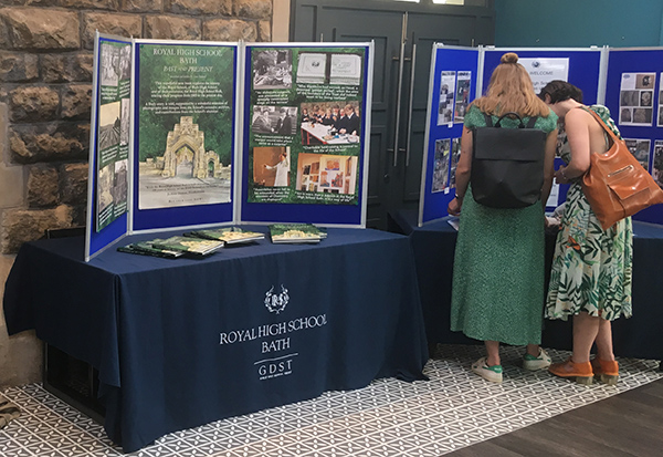 Royal High School Bath Marketing Boards on display at launch event