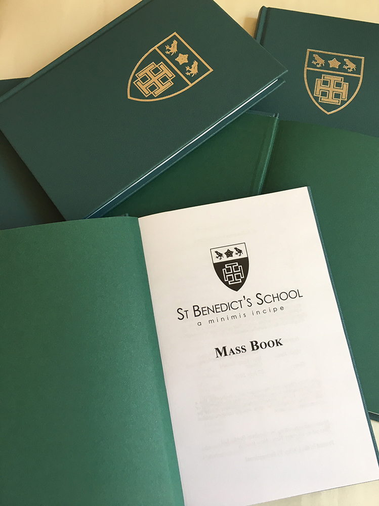 St Benedict's school mass book title page